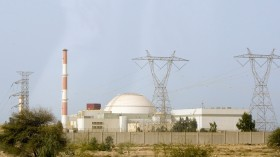 A general view shows the reactor at the nuclear power plant in Bushehr, 1200 kilometers (746 miles) south of Tehran February 25, 2009