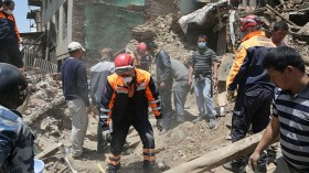 Nepal aid workers