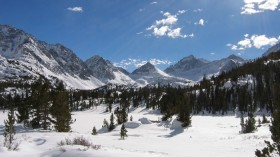 Snowpack in all mountain ranges, including the Sierra Nevada, affects regional ground-water sources.