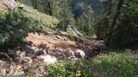 Landslide in Colorado's Front Range.