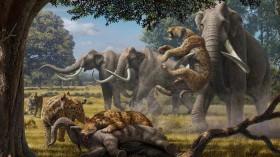 Pleistocene Mammoth Attack