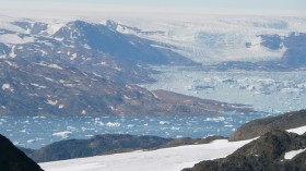 Greenland ice sheet at higher elevations
