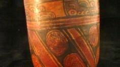 A pot from a Maya village buried under ash in El Salvador