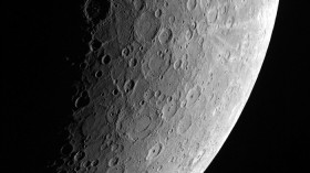 Mercury;  Mercury Dual Imaging System (MDIS) aboard NASA's MESSENGER mission shows the planet Mercury's surface in this image taken on April 23, 2013 and released on June 14, 2013.
