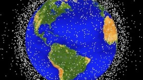 Graphical Representation Of Space Debris Around Earth