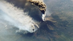 Space Station Catches Etna Eruption