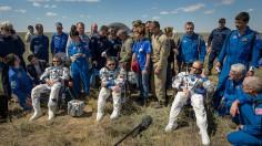 Expedition 47 Soyuz TMA-19M Landing