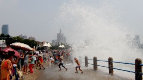 Typhoon 'Soudelor' Passes By Qingdao