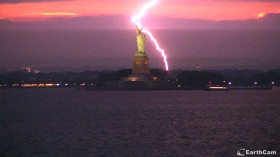 Statue of Liberty Torch Burns Bright Thanks to Lightning Strike
