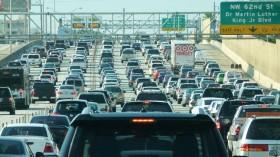 Miami traffic jam, I-95 North rush hour