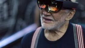 Apollo 11 astronaut Buzz Aldrin tries out Microsoft HoloLens