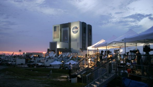 NASA Prepares For Space Shuttle Discovery's Launch