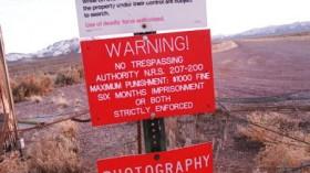 Warning Sign on Area 51 Border