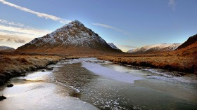 Incredible view of Scottish moor