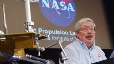 Press Conference At The Jet Propulsion Lab In Pasadena, California