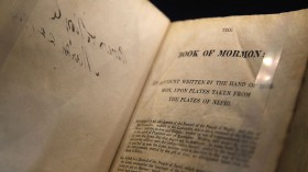 Mormon Church Displays Historic Doctuments, Including Original Book of Mormon Manuscript