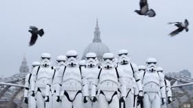Stormtroopers Greet Commuters On The Millennium Bridge