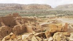 Chaco Canyon - Panoramic view of Pueblo Bonito