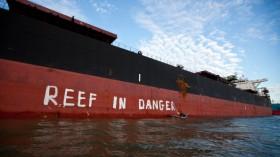 Greenpeace Activists Paint Message For UNESCO