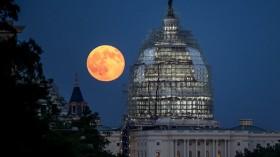 Full Moon Over the U.S. Capitol
