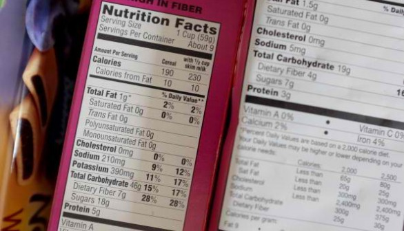 Government Proposes Improving Nutrition Facts Labeling On Food Products