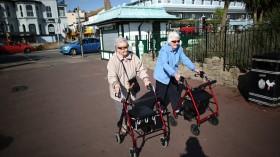 Old Women Walking