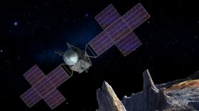 Artist's Concept of Psyche Spacecraft with Five-Panel Array