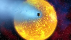 A 'Hot Jupiter' Exoplanet dangerously close to its Parent Star
