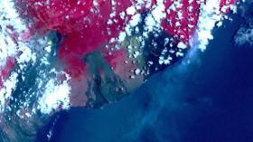 Satellite View of Kilauea Eruption