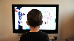 Child In Front Of Television