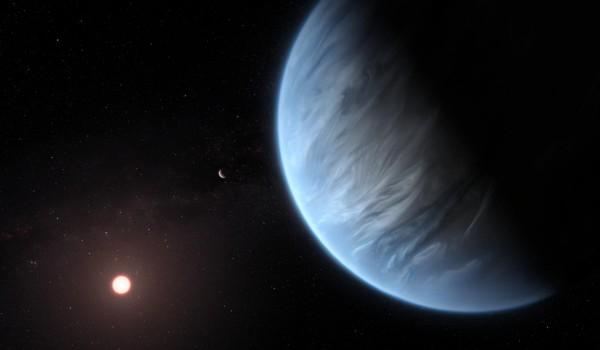 Illustration of Exoplanet K2-18b (image)