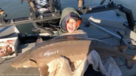 Prized Catch:  Nine-year Old Tennessee Boy Catches 79.8 Sturgeon