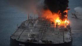 Massive Oil Tanker Fire Off the Eastern Coast of Sri Lanka Now Extinguished