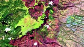 Las Conchas Fire in New Mexico satellite image