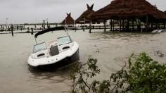 Category Hurricane Delta Hits Yucatan, Mexico
