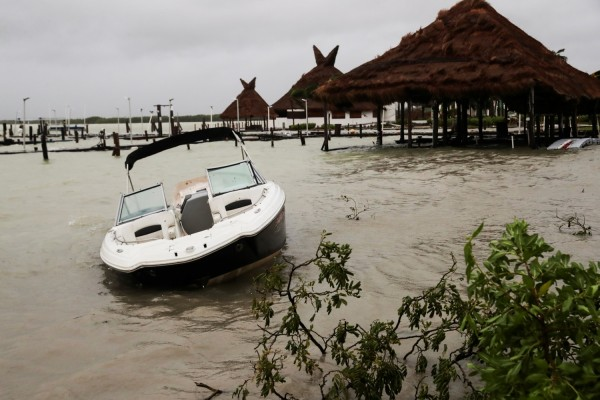 Category Hurricane Delta Hits Yucatan, Mexico