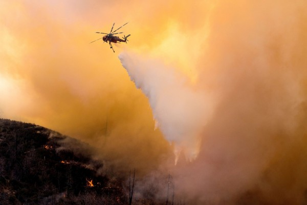 California Wildfire: Evacuations Lifted, Roads Reopened  in Bruder Fire at Redlands