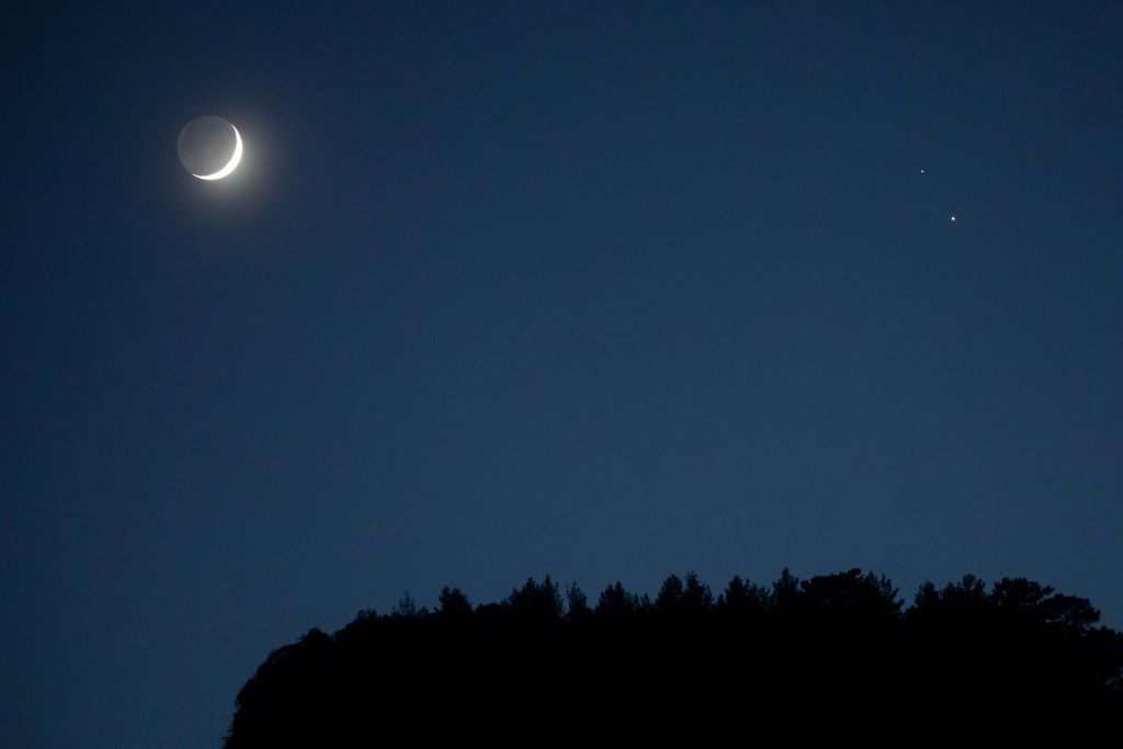 Celestial Trio: Jupiter and Saturn Will Join the Moon in Night Sky this Week
