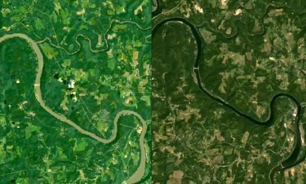 River discoloration