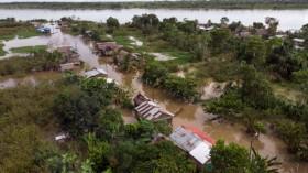 Flooded Amazon Village