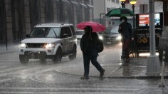 New York City Hit With Hail Storm As Violent Weather Moves Through Area