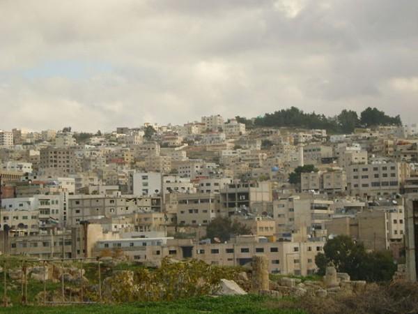 Overpopulated Amman, Jordan