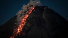 Active Volcano Mount Merapi Spews Pyroclastic Flow