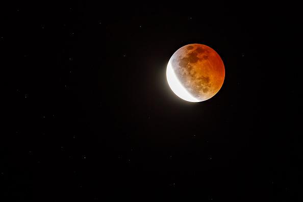 Super Blood Moon during total lunar eclipse