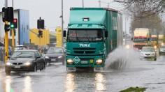 Flood on highway