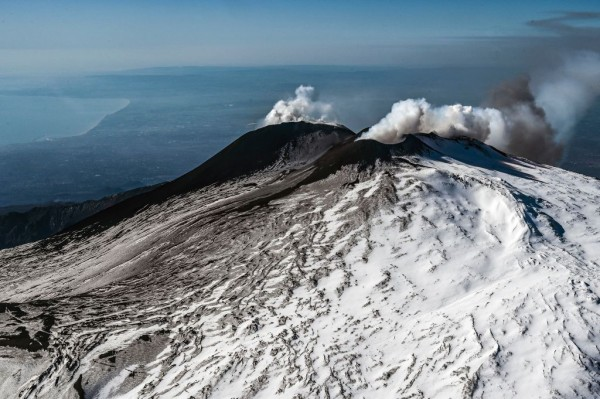 Volcanologists Watch Mount Etna From Above