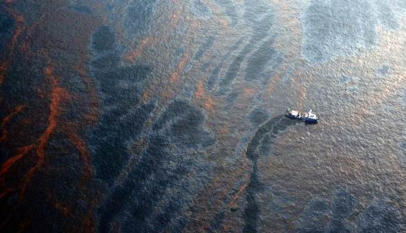 Coast Guard Attempts Burning Off Oil Leaking From Sunken Rig