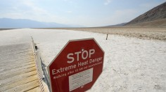 Signage warns of extreme heat danger at Death Valley National Park