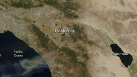 NASA image of San Diego County, California wildfires, May 2014