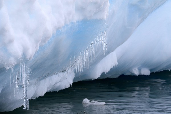 Icicles on iceberg